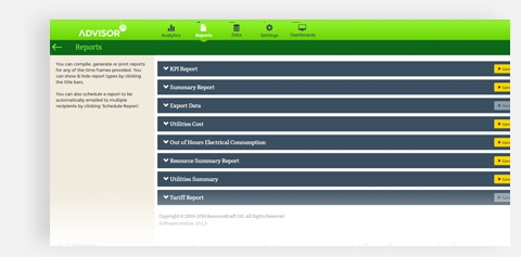 ISO 50001 Advisor 10 Reports Screenshot
